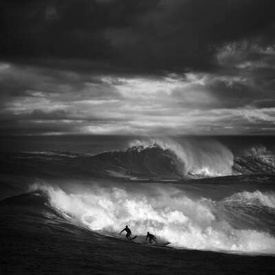 Gerahmte Bilder: North Shore Surfing #16 von Ed Freeman