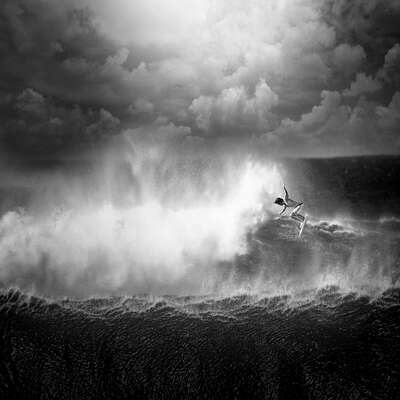 North Shore Surfing #15 by Ed Freeman