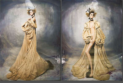 Fashion Wall Art:  With Yves coat Diptych I/II by Efren Isaza