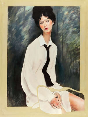 Portrait-Kunstdruck: Women I (after Modigliani) von Efren Isaza