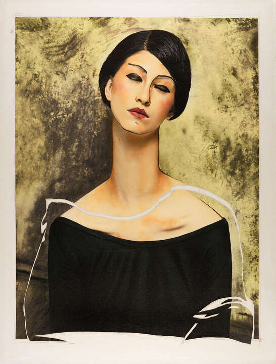 Women VI (after Modigliani) by Efren Isaza