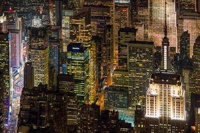 Empire State Building with Times Square by Evan Joseph