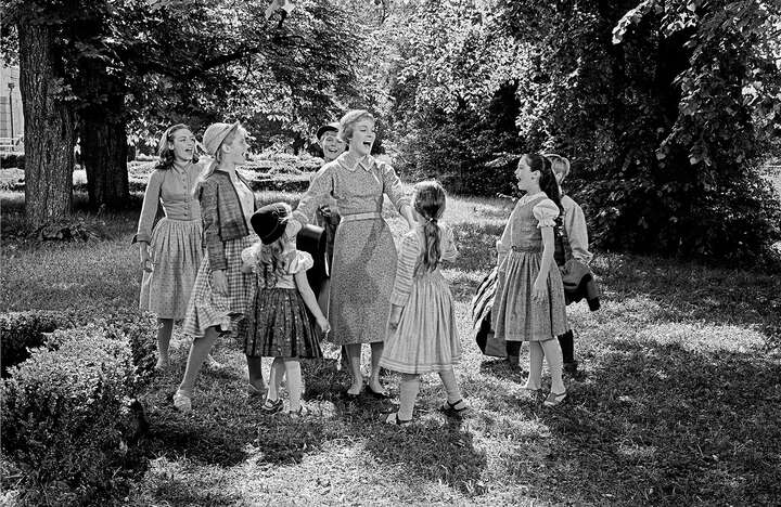 Maria and the Trapp children by Erich Lessing