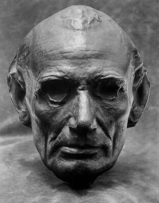 Famous Portrait Photographers: Edward Steichen: Life Mask of Abraham Lincoln by Edward Steichen