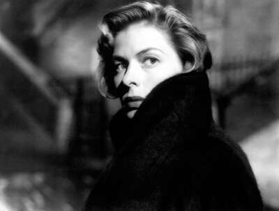 curated black and white art: Irene (Ingrid Bergman) by Roberto Rossellini
