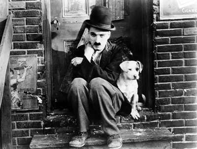 curated black and white art: Tramp (Charlie Chaplin) by Charles Chaplin