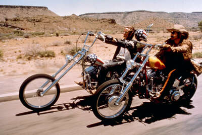movie still of  Wyatt (Peter Fonda) und Billy (Dennis Hopper) by Dennis Hopper
