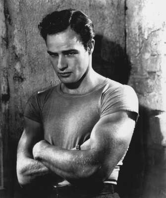 curated black and white art: Stanley Kowalski (Marlon Brando) by Elia Kazan