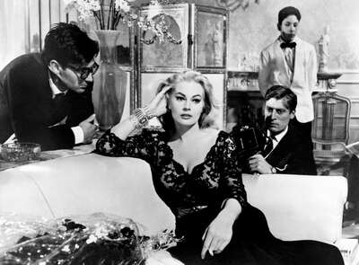 curated black and white art: Sylvia (Anita Ekberg) by Federico Fellini