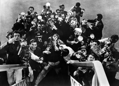 History Photography: Paparazzi by Federico Fellini