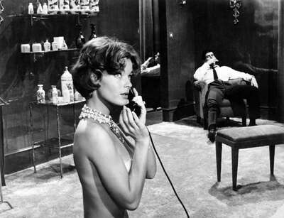 movie still of  Pupe (Romy Schneider) by Luchino Visconti
