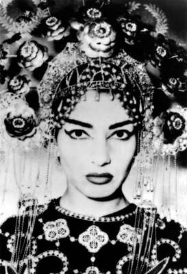 curated black and white art: Turandot, Maria Callas by Federico Patellani