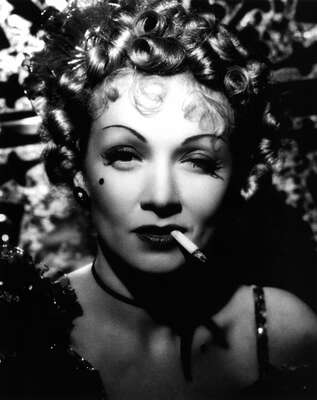 curated black and white art: Frenchy (Marlene Dietrich) by George Marshall