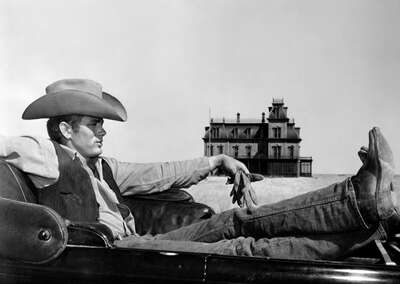 movie still of  Jett Rink (James Dean) by George Stevens