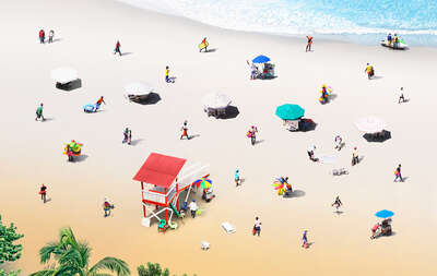colorful art: Beach by Felipe Bedoya