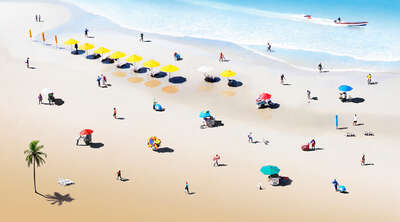 Beach wall art: Beach II by Felipe Bedoya