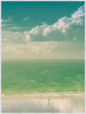 Beach Wall Art Prints: How Gentle are the Waves by Françoise Gaujour
