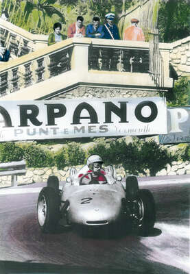 Sports wall art, Muhammad Ali:  Porsche at the Formula I  by Frank M. Orel