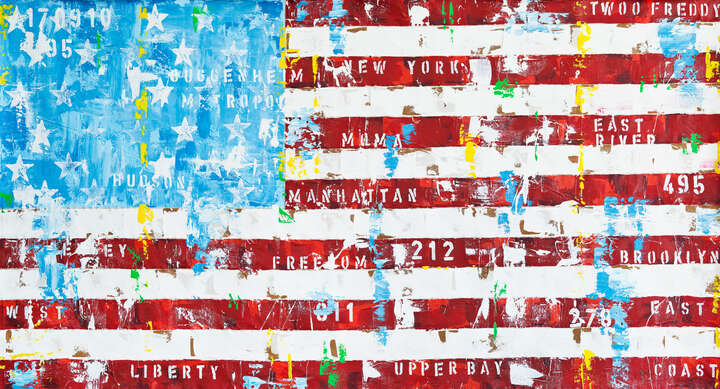 New York Flag von Freddy Reitz