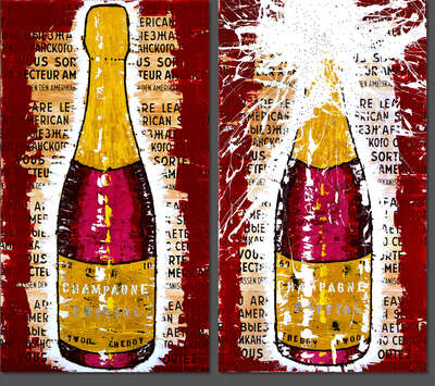 Pop Art prints: Crystal Champagne by Freddy Reitz