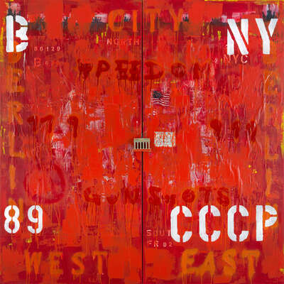 Pop Art Bilder: New York / CCCP von Freddy Reitz