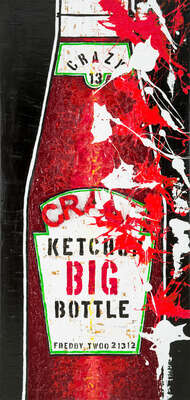 Kitchen Wall Art: Big Ketchup by Freddy Reitz