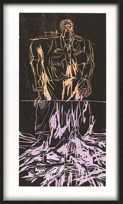Geteilter Held (Remix) by Georg Baselitz
