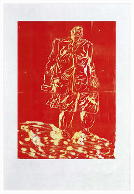 Limited Edition Gifts: Remix, Mantel (Version Rot/Gelb) by Georg Baselitz