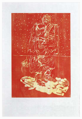 Remix, Hirte (Version Rot/Gelb) by Georg Baselitz