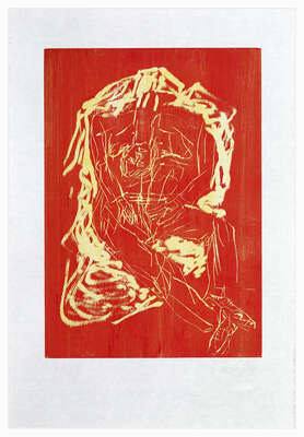 Abstrakte Kunst  Remix, Haus (Version Rot/Gelb) de Georg Baselitz