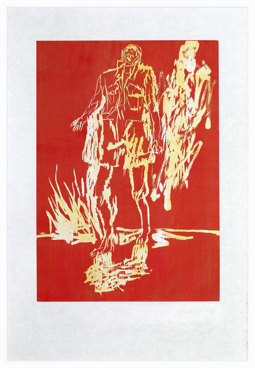 Remix, Partisan (Version Rot/Gelb) von Georg Baselitz