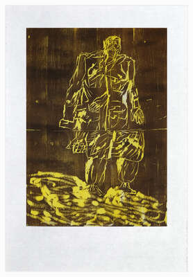Remix, Mantel (Version Braun/Gelb) de Georg Baselitz