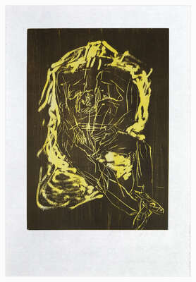 Remix, Haus (Version Braun/Gelb) by Georg Baselitz