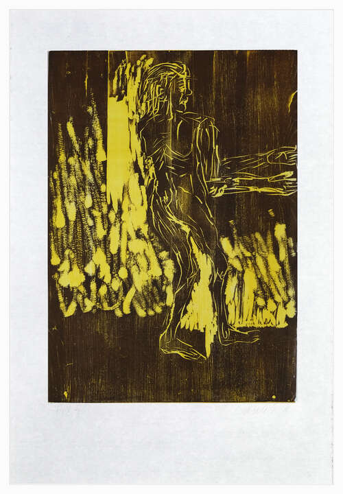Remix, Rute (Version Braun/Gelb) von Georg Baselitz