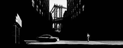 Popular Black and White Prints: Manhattan Bridge by Gabriele Croppi