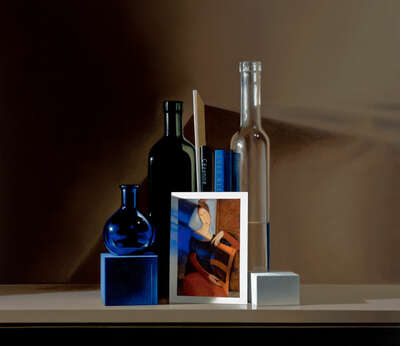 Stillleben Fotografie  Still life with Modigliani von Guy Diehl
