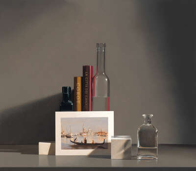 Still life with Corot by Guy Diehl
