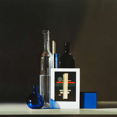 Still life with Ilya Chashnik & Suprematism by Guy Diehl
