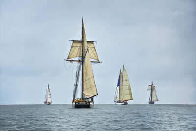 Schooners Racing on the Chesapeake Bay von Greg Pease