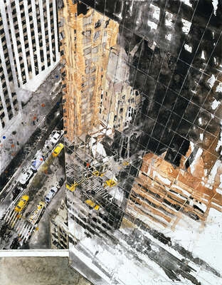 Art Prints: LUMAS paintings: Reflection 7th Avenue by Gottfried Salzmann