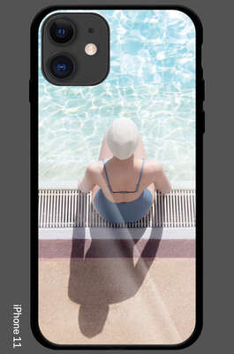 iPhone 11 - Day Dreaming at the Summer Pool by Soo Burnell