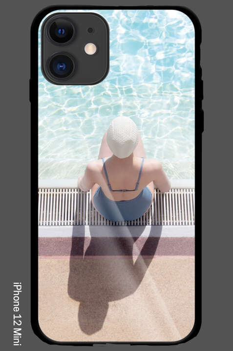 iPhone 12 Mini - Day Dreaming at the Summer Pool by Soo Burnell