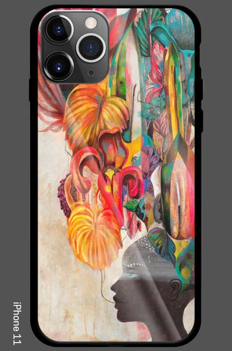iPhone 11 - Strange Flowers Black Paradise by Olaf Hajek