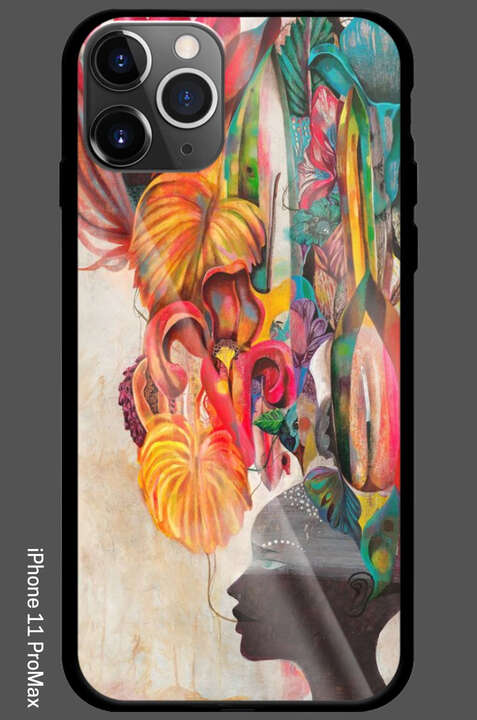 iPhone 11 Pro Max - Strange Flowers Black Paradise by Olaf Hajek