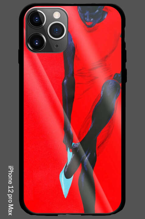 iPhone 12 Pro Max - Black Beauty - Red Dress by Wolfgang Joop