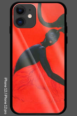 iPhone 12 / 12 Pro - African Vogue - Gold Stilettos & Black von Wolfgang Joop