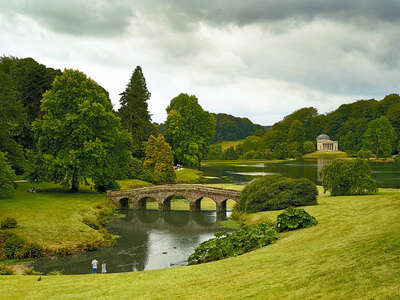 Landscapes inspired by classical painting: Stourhead II by Horst & Daniel Zielske