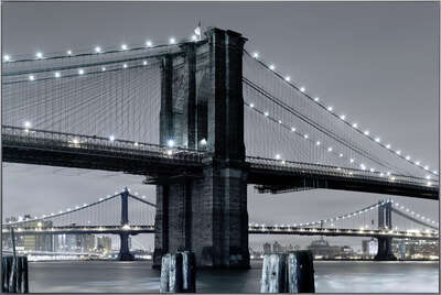 LUMAS Bedroom Wall Art: Brooklyn Bridge II by Horst & Daniel Zielske