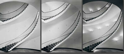 curated stair artworks: Börse Hannover by Heinrich Heidersberger