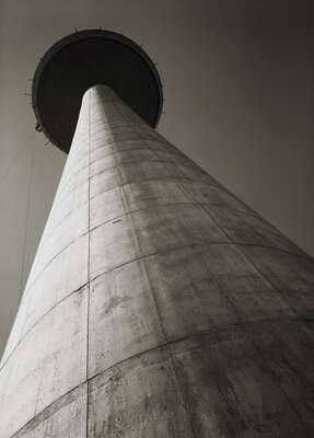 curated black and white art: Fernsehturm Hannover by Heinrich Heidersberger
